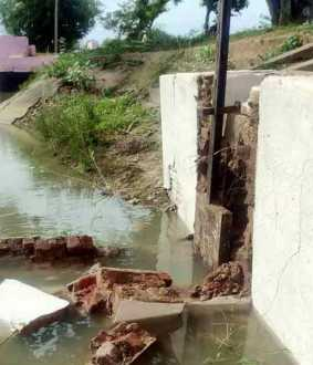 Shatter wall collapses in the kallanai