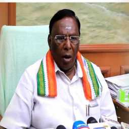 coronavirus puducherry cm press meet peoples