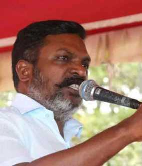 Thirumavalavan  about the farmers' rally ..!