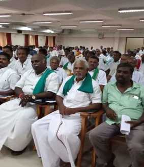 collector meeting with farmers