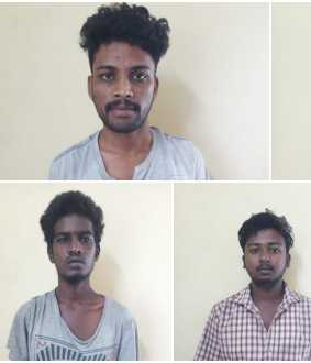 Five suspects arrested near kovai