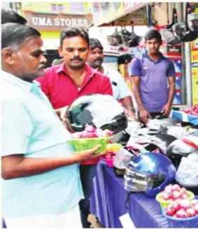salem district one of the shop offcer buy helmet get onion one kg customers