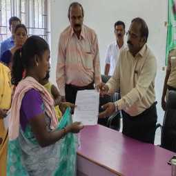 The order was issued within one hour of the request tirupattur district collector