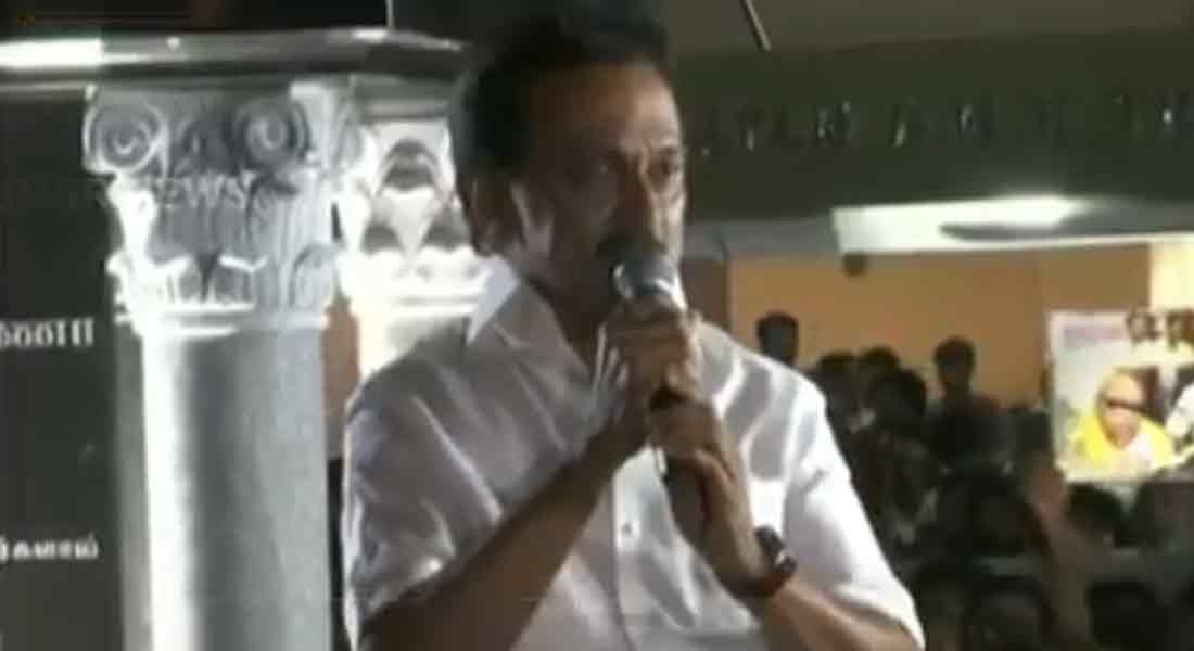 dmk leader stalin speech in anna arivalyam