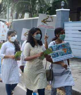 Awareness rally on behalf of Adyar Cancer Hospital .. (Pictures)