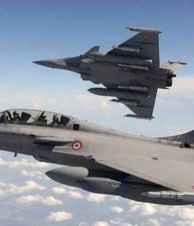 five rafale jet departed from france to india