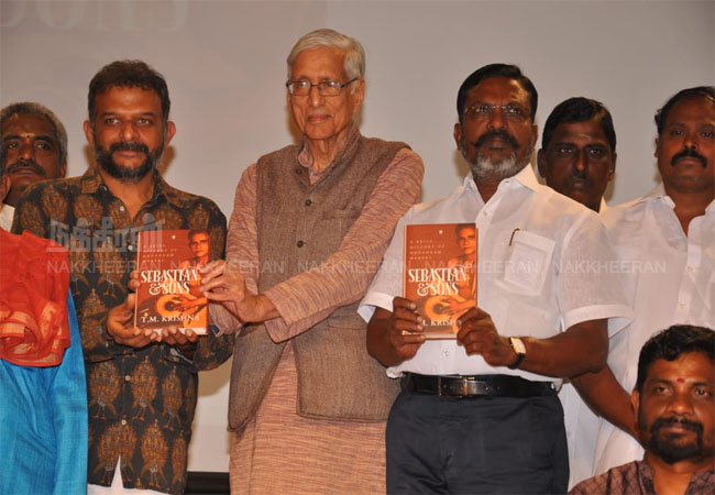Famous singer and musician TM Krishna  The book released in chennai