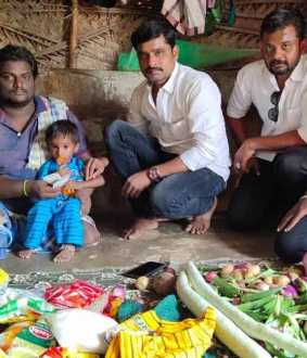 TVK helps who lost both legs pudykottai