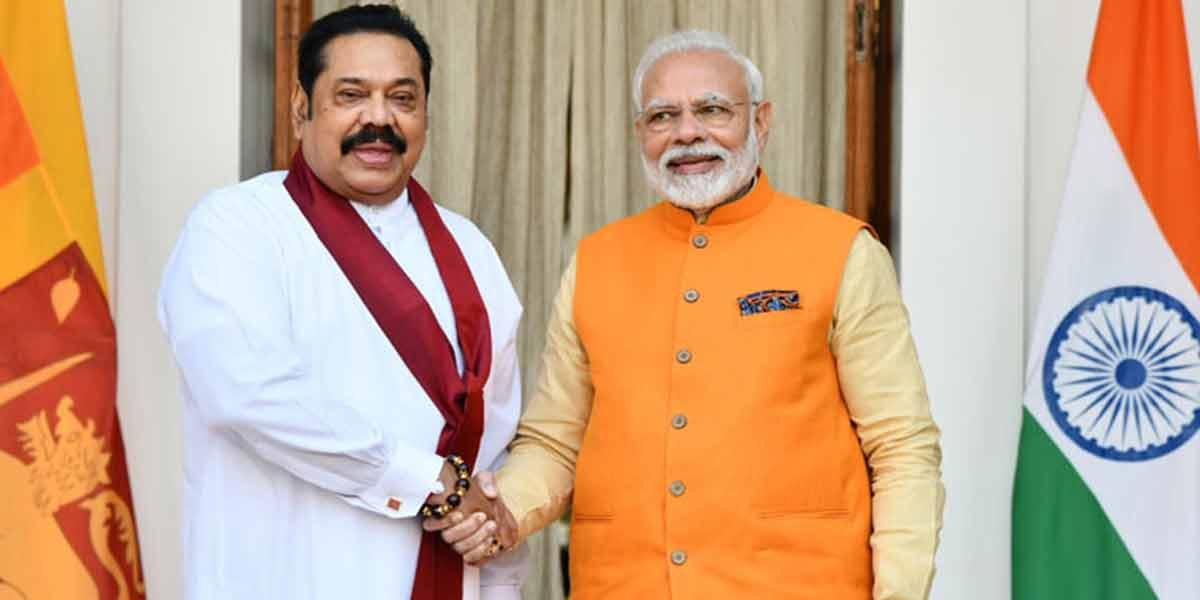 Delighted to address my friend Rajapaksa - Modi tweet in Tamil!