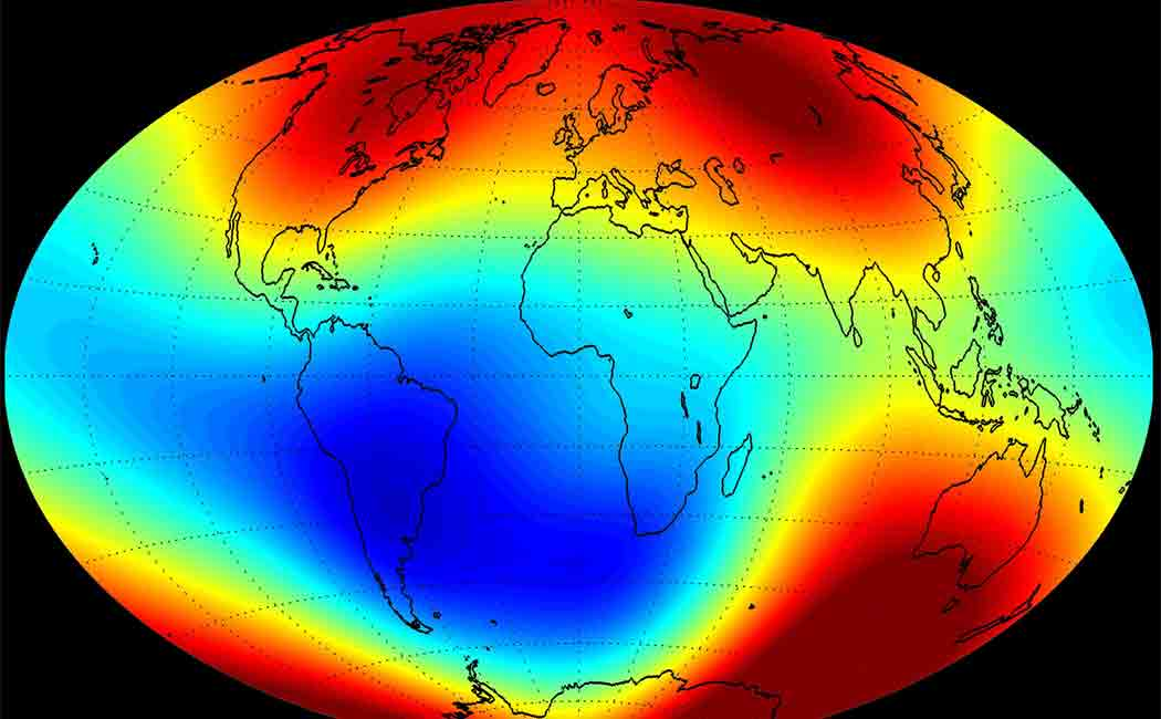 earths magnetic field weakens faster
