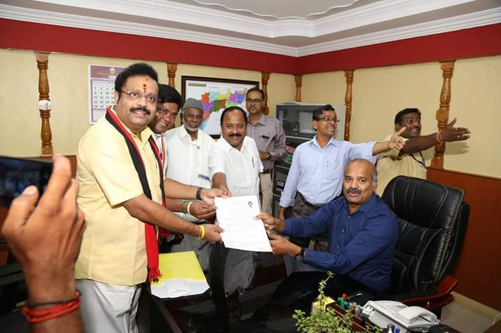 VELLORE LOK SABHA ELECTION DMK CANDIDATE KATHIR ANAND NOMINATION FILE FOR TODAY