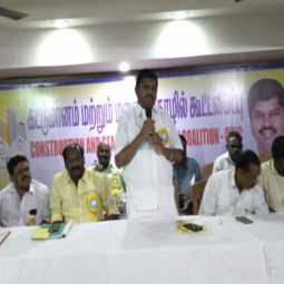 THIRUVARURU  Confederation of Construction and Lands association president