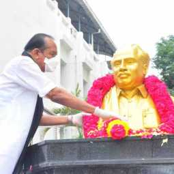 MDMK party leader vaiko pay homage to anna