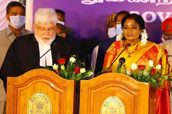 """The majority of the Congress government will be decided by law .."" Puducherry Governor Tamilisai"
