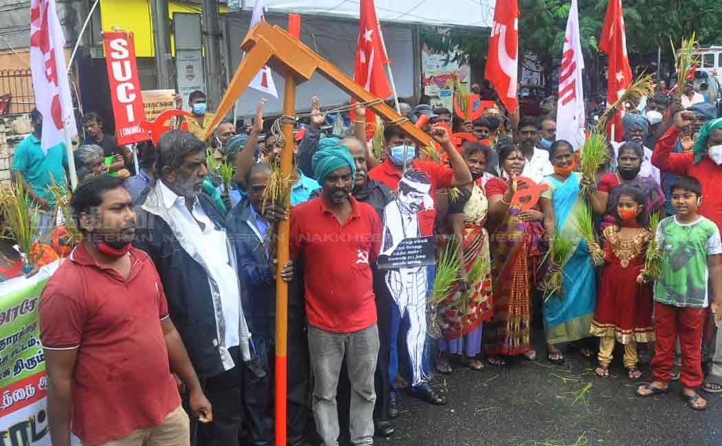 CPM Support farmers those who demanding in delhi