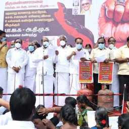gas cylinder price hike dmk demand government to take action