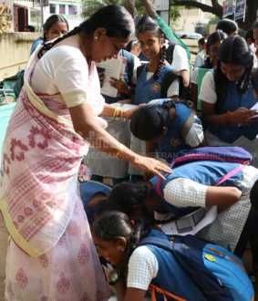 Students went to exam hall with teachers blessing