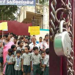 People's struggle to lock down school