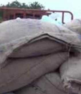 Confiscated 3 tonnes of stored ration rice!
