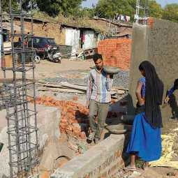wall built in gujarat ahead of trump visit