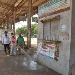 chennai bus stands getting ready to open