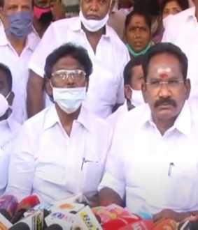 minister sellur raju press meet at madurai