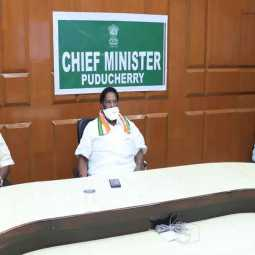 puducherry cm narayanasamy coronavirus discussion
