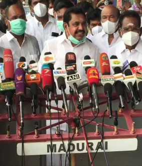 cm palanisamy press meet at madurai airport