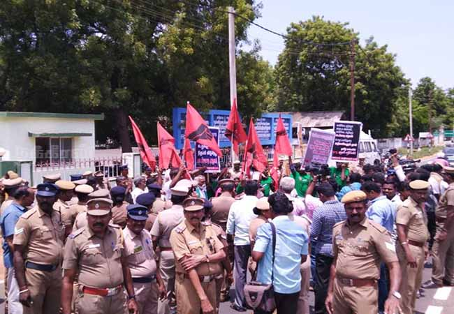 cauvery water not get in farmers makkal adhikaram strike