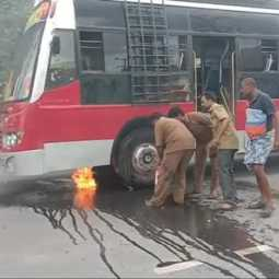 VELLORE VANIYAMBADI PRIVATE BUS INCIDENT PEOPLES SHOCKED