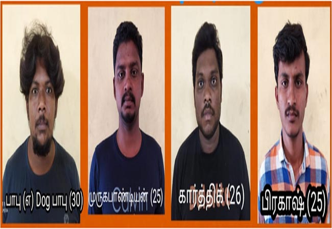 hosur real estate business man incident salem police arrested 4 persons