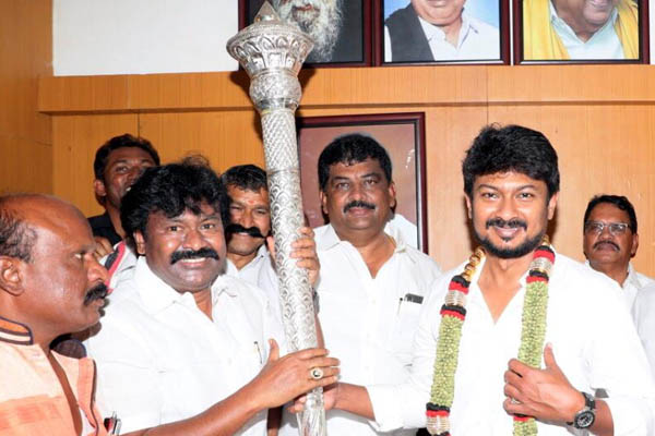 Scepter for udhayanidhi stalin