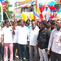 Ambedkar Statue Damage vellore ranipet vsk party leaders road block strike