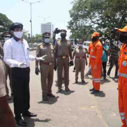 chennai koyambedu - Corona Special Officer - Inspection