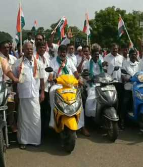 farmers acts delhi farmers tenkasi district political parties leaders bikes rally