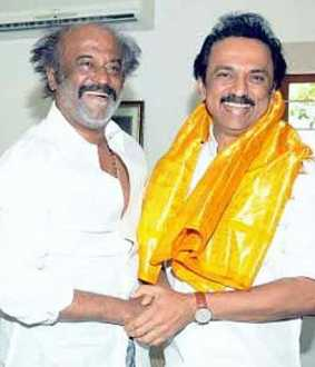 ''Delivered late but welcome '' - Stalin's congratulations to Rajinikanth!