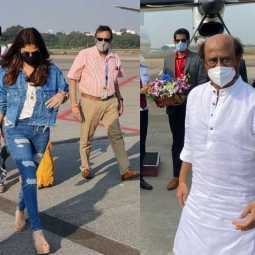 Rajinikanth and Nayanthara Travel to Hyderabad for Annathe Shooting