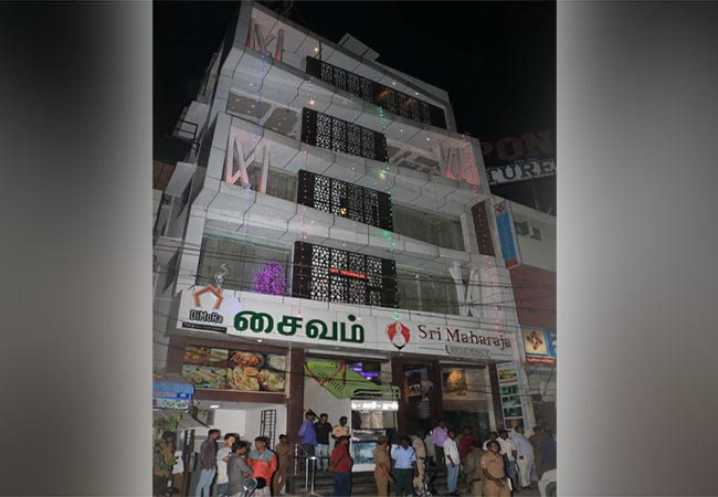 thanjavur district jewellery shop owner incident in trichy hotel