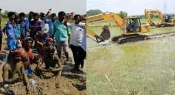 Gail company that destroys the planting field: farmer protest