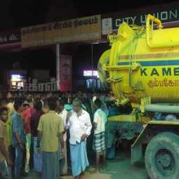 underground drainage cleaning employee incident kumbakonam municipality