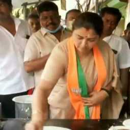 Khushboo baked dosa in the campaign
