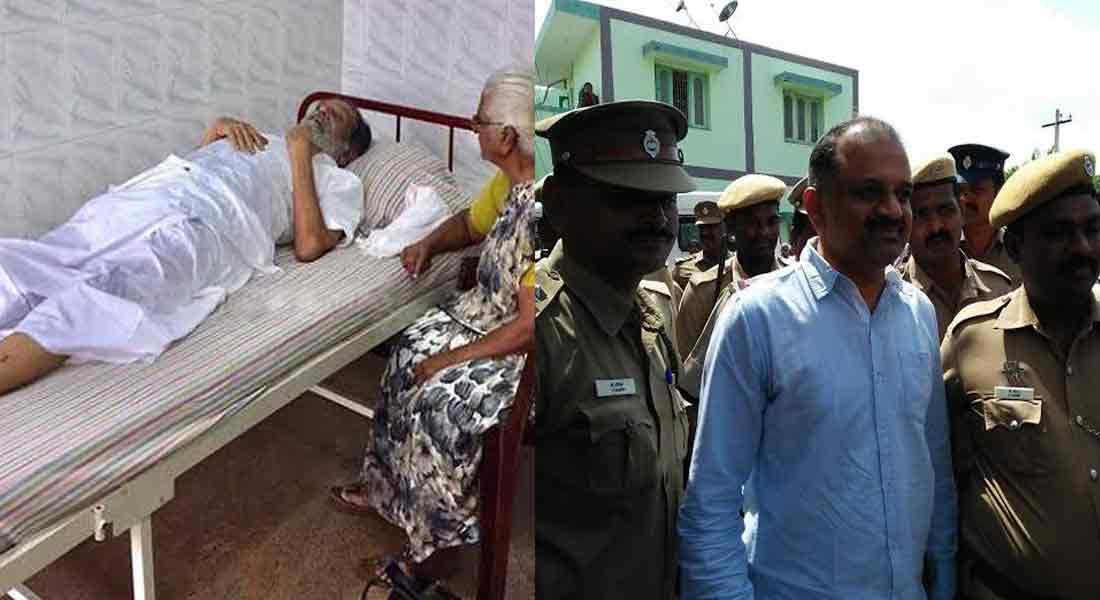 perarivalan,s father admitted to kuyildhasan hospital