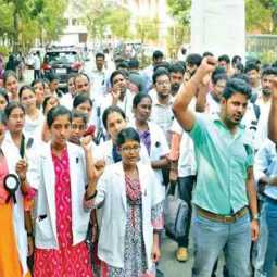 TAMILNADU GOVT HOSPITAL DOCTORS STRIKE CONTINUE MINISTER VIJAYA BASKER PRESS MEET
