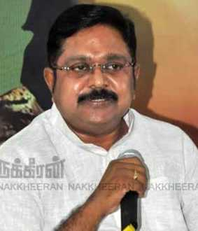 ttv dhinakaran statement about sholinghur constituency