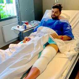suresh raina underwent a knee operation
