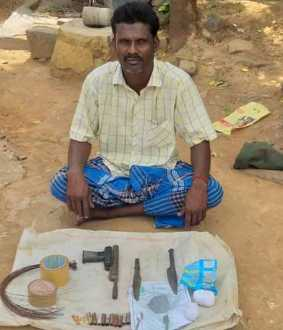 The person involved in the production of country bombs caught by the forest department.