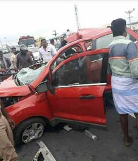 car-truck collision near Veppur two passes away