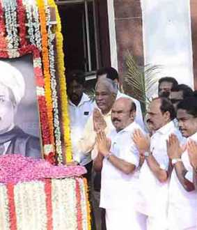 SINGARAVELU 161TH BIRTHDAY HAS TN GOVERNMENT CHENNAI COLLECTOR OFFICE