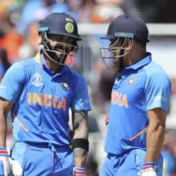 kohli about dhoni and his batting in worldcup series