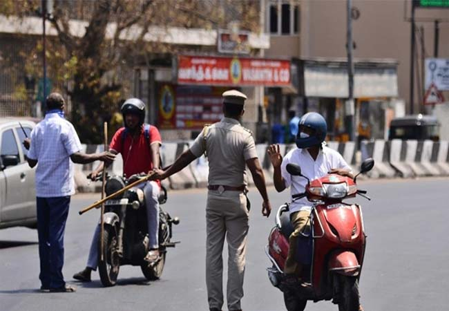 tamilnadu curfew vehicles police arrested